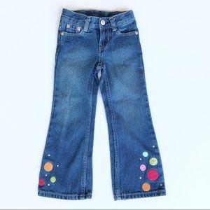 Embellished Gymboree flare jean size 4 slim